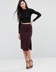 Finders Keepers Be Still Midi Skirt Masala Purple