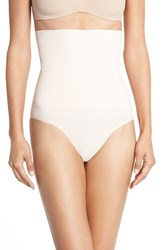 Yummie Tummie Women's Yummie By Heather Thomson 'Danielle' High Waist Smoother Thong Naked