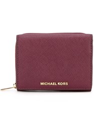 Michael Michael Kors Small 'Jet Set Travel' Wallet Pink Purple