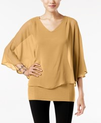 Joseph A V Neck Cape Top Kelp