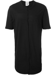 Lost And Found Rooms Exposed Seam T Shirt Black