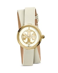 Tory Burch The Reva Double Wrap Watch 28Mm Ivory
