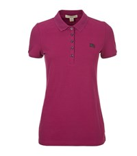Burberry Brit Logo Polo Shirt Female Pink