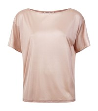 Helmut Lang Knitted Silk T Shirt Female Pink