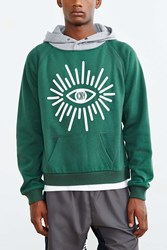 Icny Eye Hooded Sweatshirt Green