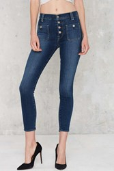 Nasty Gal 7 For All Mankind Exposed Button Skinny Jeans