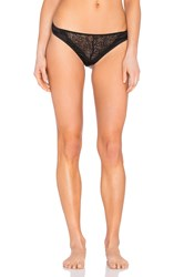 Else Silk And Lace Thong Black