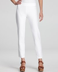 Eileen Fisher Washable Stretch Crepe Slim Ankle Pants White