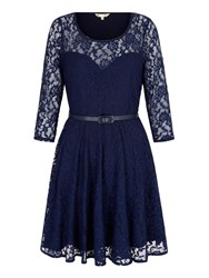Yumi Lace Sweetheart Party Dress Navy