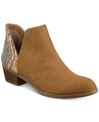 Indigo Rd. Chant Ankle Booties Women's Shoes Brown Multi