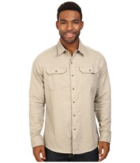 Kuhl Shiftr Long Sleeve Shirt Stone Men's Long Sleeve Button Up White