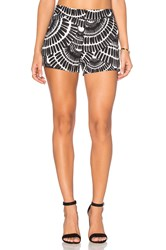 Trina Turk Corbin 2 Short Black And White