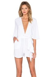 Backstage Cest La Vie Playsuit White