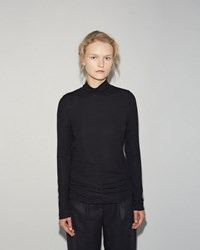 Organic By John Patrick Turtleneck Tee Navy