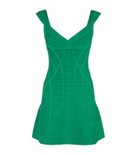 Herve Leger Mayra Bandage Dress Female Green