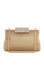 Whiting And Davis Crystal Clasp Clutch Gold
