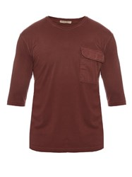 Bottega Veneta Patch Pocket Cotton T Shirt Burgundy Multi