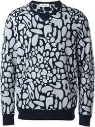 Tim Coppens 'Jacquard Crew' Sweater Blue