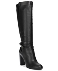 Thalia Sodi Alda Ankle Wrap Tall Boots Only At Macy's Women's Shoes Black