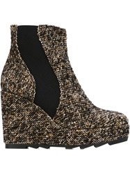 Castaner Castaner 'Quince' Tweed Wedge Boots Brown