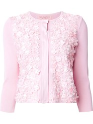 Giambattista Valli 'Floral Applications' Cardigan Pink And Purple