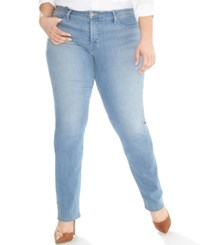 Levi's Plus Size 314 Shaping Straight Leg Jeans Blue Note
