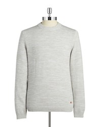 Strellson Heathered Crewneck Sweater Pastel Grey