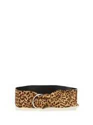Isabel Marant Yanis Leopard Calf Hair Belt