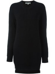 Mcq By Alexander Mcqueen Ribbed Knit Jumper Dress Black