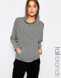 Y.A.S Tall Slouchy Sweat With Hoody Grey