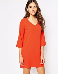 Vero Moda V Neck Shift Dress Red