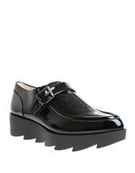William Rast Dee Patent Leather Platform Loafers Black