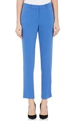 Joseph Women's Eliston Crepe Crop Trousers Navy Size 6 Us