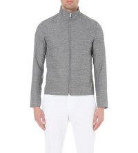 Reiss Ace Woven Jacket Dark Grey