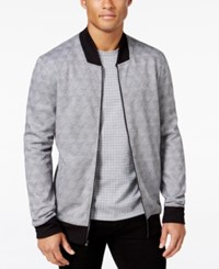 Alfani Men's Baseball Collar Jacket Regular Fit Dark Grey Combo