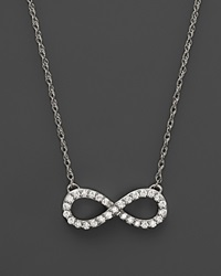 Bloomingdale's Diamond Infinity Pendant Necklace In 14K White Gold .20 Ct. T.W.