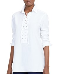 Ralph Lauren Lace Up Tunic White