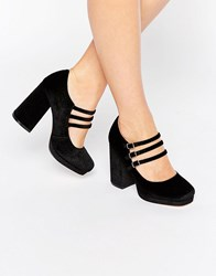 Asos Pop Up Heels Black Velvet