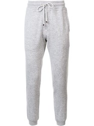 Brunello Cucinelli Gathered Ankle Track Pants Grey
