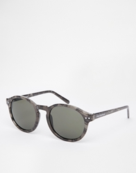 Cheap Monday Round Sunglasses Whitemarble