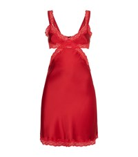 Stella Mccartney Lingerie Clara Whispering Satin Chemise Female Red