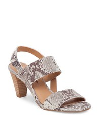Lucky Brand Patie Snake Print Leather Sandals Grey