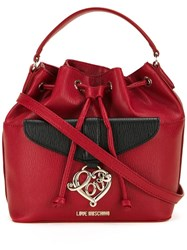 Love Moschino Detachable Strap Bucket Tote Red