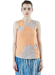 The Autonomous Collections Patchwork Tank Top Orange