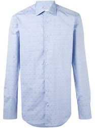 Etro Printed Shirt Blue
