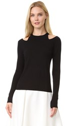 Giambattista Valli Long Sleeve Sweater Black