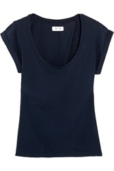 Mih Jeans The Scoop Neck Cotton Jersey T Shirt