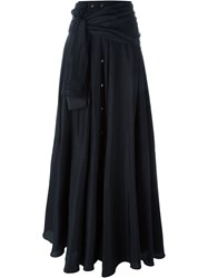 Faith Connexion Shirt Style Maxi Skirt Black
