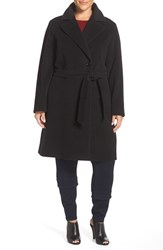 Cinzia Rocca Due Plus Size Women's Wool Blend Wrap Coat