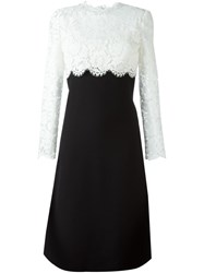 Valentino Lace Crepe Couture Dress Black